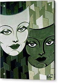 Masks Verde Acrylic Print