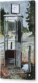 Mason-dixon Phone Booth Acrylic Print by Perry Woodfin