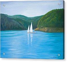 Mason's Sailboat Acrylic Print by Stephen Degan