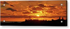 Maspalomas Sunset Panorama Acrylic Print by Marc Huebner
