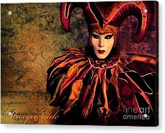 Masquerade Acrylic Print by Jacky Gerritsen