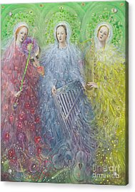 Mass For Three Voices Acrylic Print by Annael Anelia Pavlova