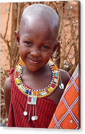 Massai Child Acrylic Print