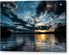 Masscupic Lake Sunset Acrylic Print