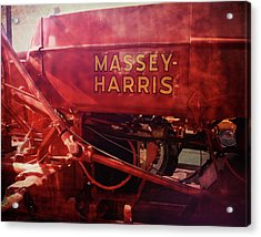 Acrylic Print featuring the photograph Massey Harris Vintage Tractor by Ann Powell