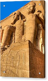 Massive Statues Of Ramses The Great At Abu Simbel Acrylic Print by Mark E Tisdale