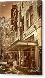 Acrylic Print featuring the photograph Mast General Store by Skip Willits