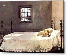 Master Bedroom  Acrylic Print by Andrew Wyeth
