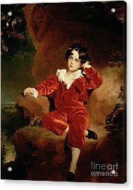 Master Charles William Lambton Acrylic Print