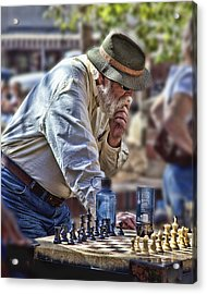 Master Chess Player Acrylic Print