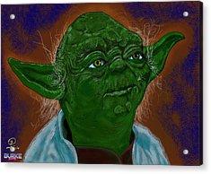 Master Yoda Acrylic Print by Joseph Burke