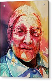 Acrylic Print featuring the painting Windows To The Soul by J- J- Espinoza