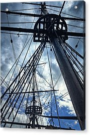 Acrylic Print featuring the photograph Masts And Rigging by David A Lane