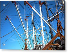 Acrylic Print featuring the photograph Masts At Barnegat Bay by John Rizzuto