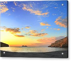 Matala Bay Sunset Acrylic Print