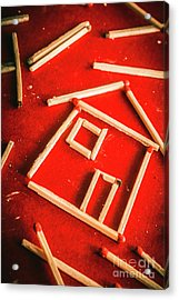 Matchstick Houses Acrylic Print by Jorgo Photography - Wall Art Gallery