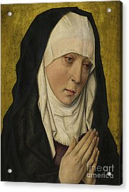 Mater Dolorosa  Sorrowing Virgin Acrylic Print by Dieric the Elder Bouts