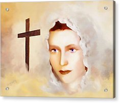 Mater Dolorosa Acrylic Print by Valerie Anne Kelly
