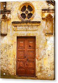 Matera Church Door Acrylic Print