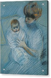 Maternity Acrylic Print by Paul Cesar Helleu