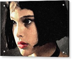 Acrylic Print featuring the painting Mathilda by Taylan Apukovska