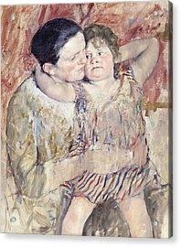 Mathilde Holding A Child Acrylic Print