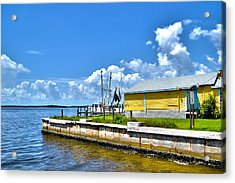 Acrylic Print featuring the photograph Matlacha Florida Waterway by Timothy Lowry