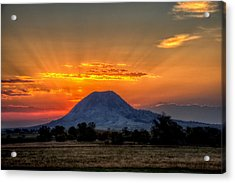 Acrylic Print featuring the photograph Mato Paha, The Sacred Mountain by Fiskr Larsen