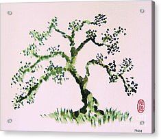 Acrylic Print featuring the painting Matsushima Ume No Ki  by Roberto Prusso