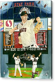 Matt Cain Perfect Night Acrylic Print by George  Brooks