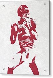 Matt Ryan Atlanta Falcons Pixel Art 2 Acrylic Print