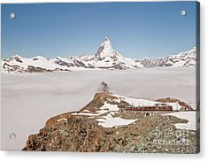 Acrylic Print featuring the photograph Matterhorn And Fog by Christine Amstutz
