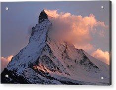 Matterhorn At Dusk Acrylic Print by Jetson Nguyen