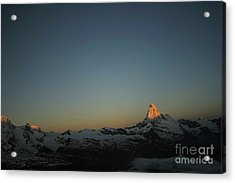 Matterhorn At Sunrise Acrylic Print