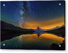 Matterhorn By Night Acrylic Print
