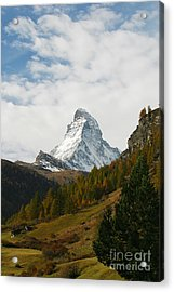 Matterhorn In The Fall Acrylic Print by Stan and Anne Foster
