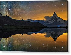 Matterhorn Milky Way Reflection Acrylic Print