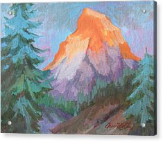 Acrylic Print featuring the painting Matterhorn Sunrise by Diane McClary