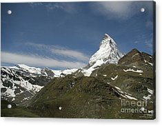 Acrylic Print featuring the photograph Matterhorn With Alpine Landscape by Christine Amstutz