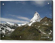 Matterhorn With Alpine Landscape Acrylic Print by Christine Amstutz