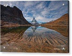 Matterhorn Zermatt Acrylic Print by Caroline Pirskanen