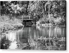 Matthaei Botanical Gardens Black And White Acrylic Print