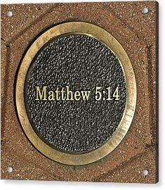 Acrylic Print featuring the photograph Matthew Bronze by Michael Flood