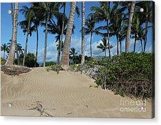 Acrylic Print featuring the photograph Maui Beach by Wilko Van de Kamp