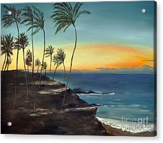 Acrylic Print featuring the painting Maui by Carol Sweetwood