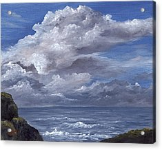 Acrylic Print featuring the painting Maui Clouds by Darice Machel McGuire