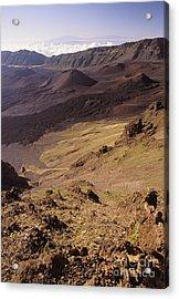 Maui, Haleakala Crater Acrylic Print by Mary Van de Ven - Printscapes