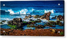 Maui Hawaii Breaking Surf  Acrylic Print