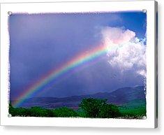 Acrylic Print featuring the photograph Maui Rainbow by Marie Hicks