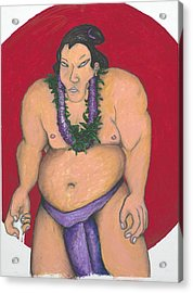 Maui Sumo Acrylic Print by Billy Knows